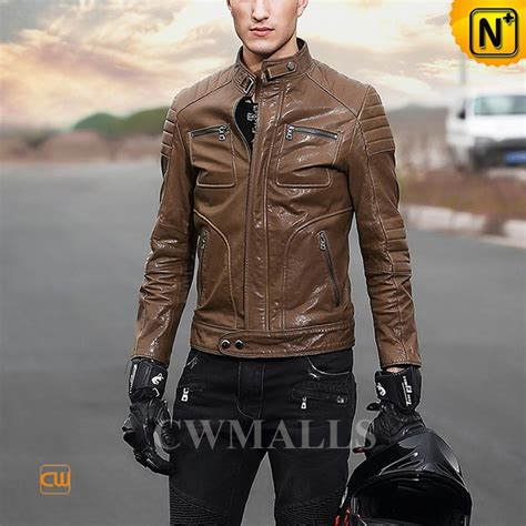 mens leather moto jacket cwmalls 174 washed leather moto jacket mens cw806030