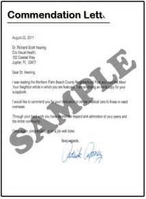 letter of commendation sample best letter examples