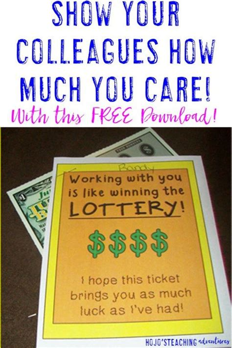 printable lottery tickets free printable to show your coworkers how much you care
