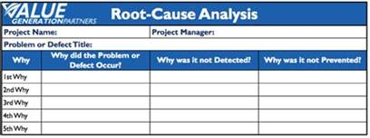 template root cause analysis rod baxter page 4 value generation partners vblog