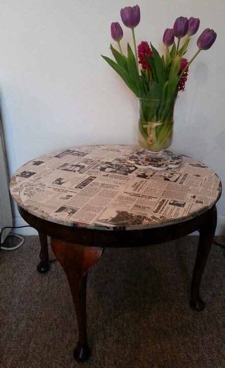 Coffee Table Decoupage - decoupage coffee table home decor