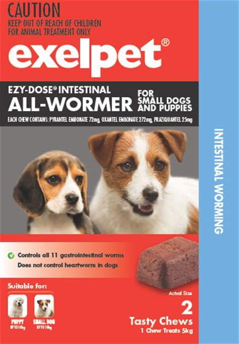 puppy wormer dosage exelpet ezy dose intestinal all wormer for dogs reviews productreview au