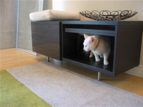 cat litter box furniture bench litter box solutions