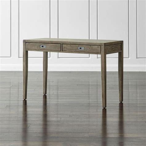 gray reclaimed wood two drawer desk