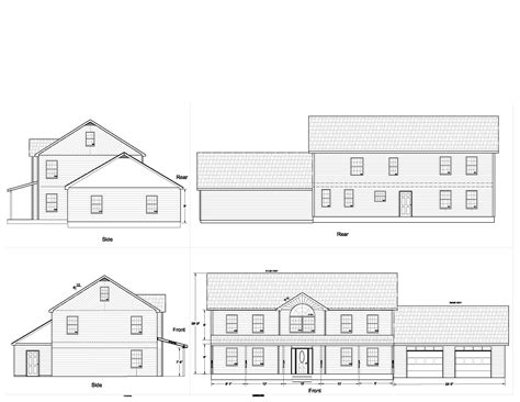 floor plans and elevation drawings elevations the new architect