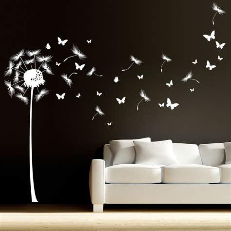 Wandtattoo Kinderzimmer Pusteblume by Pusteblume Mit Vielen Schmetterlingen Und Pollen Wandtattoo