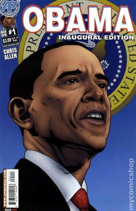 obama picture with book obama the comic book 2009 inaugural edition comic books