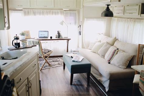 Small Breakfast Nook our 5th wheel rv renovation reveal the glamper life as