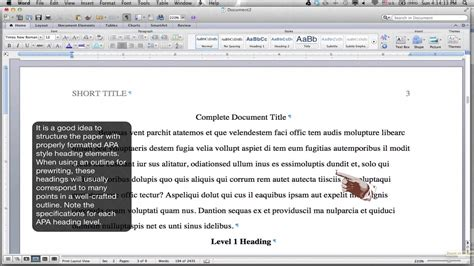 formatting  style body  headings ms word  mac