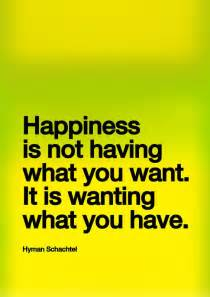 Happiness Is Wanting What You Have Quote