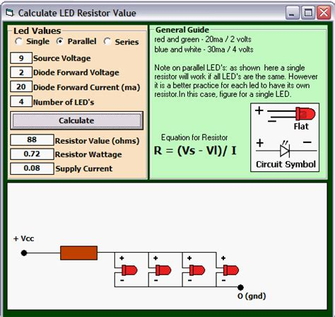 smd resistor calculator led led resistor calculator by kenneth foster from psc cd