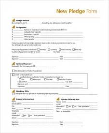 donation pledge form template sle pledge form 8