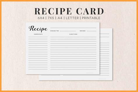 free recipe card templates 7 8 free recipe card templates slenotary