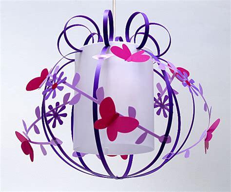 lustre papillon suspension papillon violet et parme fabrique casse