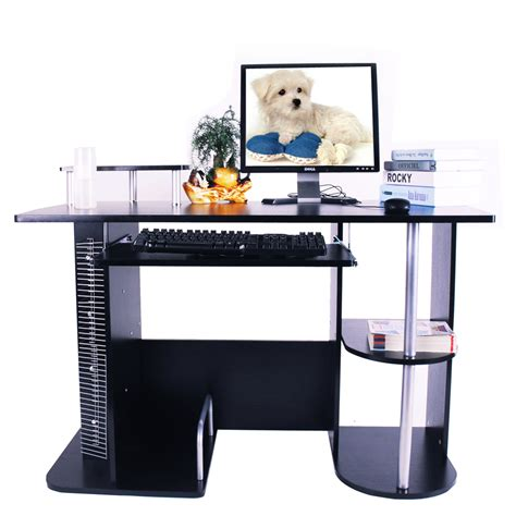 home compact pc table computer desk furniture workstation