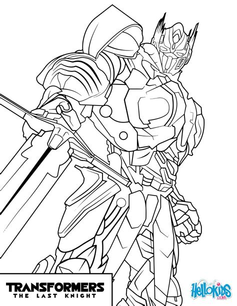 Optimus Prime Coloring Page by Transformers Optimus Prime Coloring Pages Hellokids
