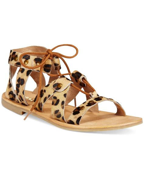 diba sandals diba true stop lace up gladiator sandals in brown lyst