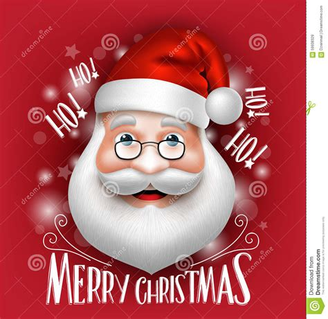 Santa Claus Merry 7 3d realistic santa claus greeting merry