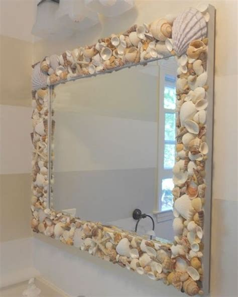 shell bathroom mirror 10 awesome beach themed projects for a vacation like feel