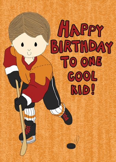 printable birthday cards hockey theme greeting card hockey boy birthday at minted com