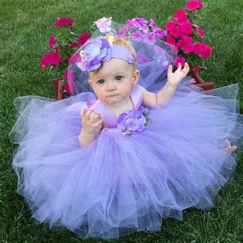 baby purple dress flower dress tutu lavender baby flower dress