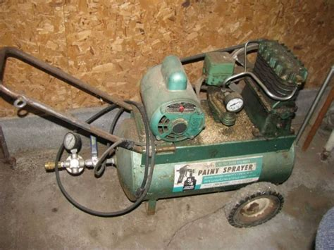 sears 60 psi 4 cylinder paint sprayer air compressor