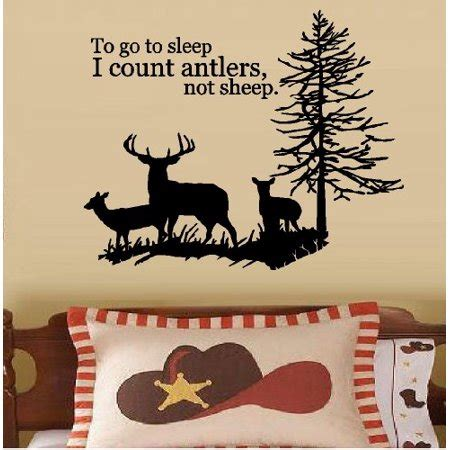 count antlers wall decal wall to go to sleep i count antlers not sheep 3 deer family
