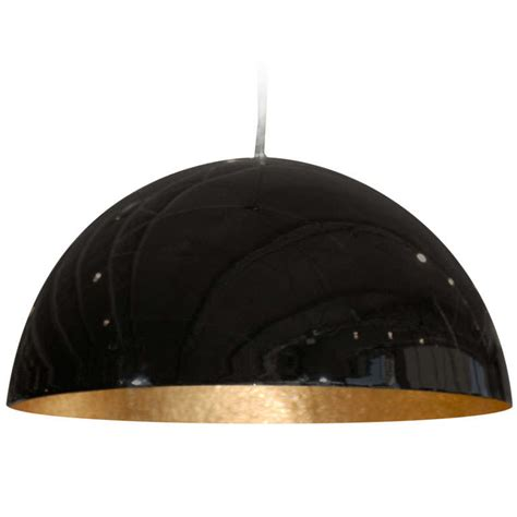 Small Glossy Black Dome Light Fixture At 1stdibs Dome Light Fixture