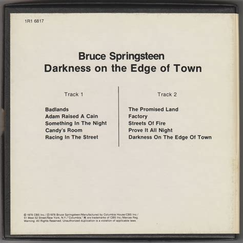 town at the edge of darkness the excoms volume 2 books 17 collectibles from springsteen s darkness on the edge of