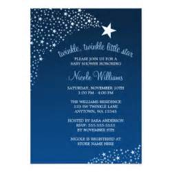 twinkle shooting baby shower 5x7 paper invitation card zazzle