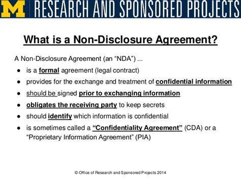 secrets   disclosure agreements