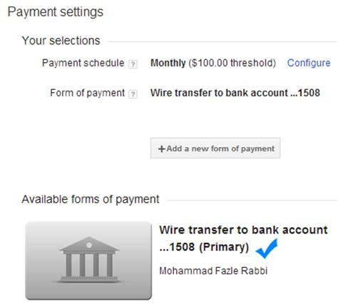 adsense wire transfer time how to receive adsense revenue directly into your bank