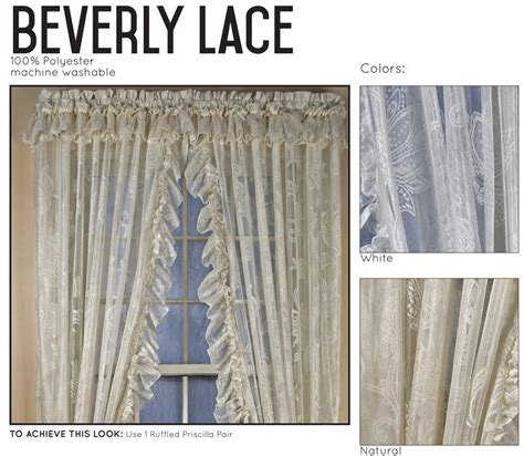 ruffled priscilla window curtains beverley lace ruffled priscilla curtains