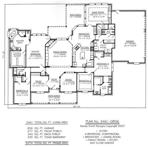 ranch style house plan 4 beds 2 00 baths 1500 sq ft plan 36 372 3800 sq ft ranch house plans