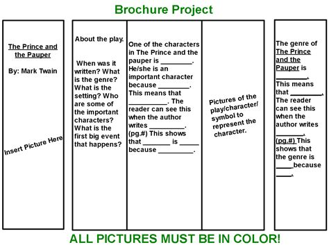 brochure templates for school project brochure project mrs bailey s language arts class