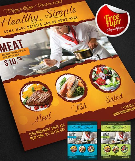 free food flyer templates 40 restaurant templates suitable for professional business