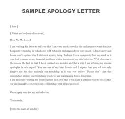 sle apology letter free sle letters
