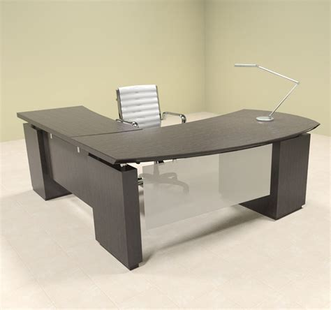 L Shaped Contemporary Desk 4pc Modern Contemporary L Shaped Executive Office Desk Set Mt Ste L3