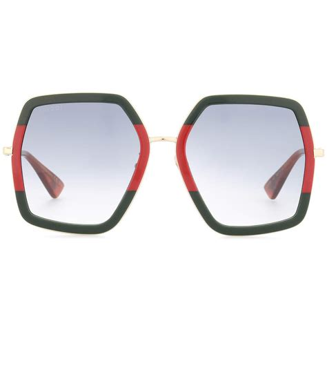 Square Metal Glasses gucci oversized square frame metal sunglasses modesens