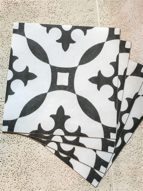 Black White Vinyl Floor Tiles Self Stick   Carpet Vidalondon