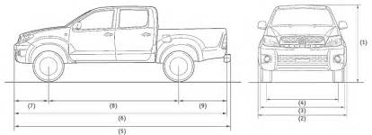 Toyota Tacoma Width Toyota Tacoma Dimensions 2017 Ototrends Net