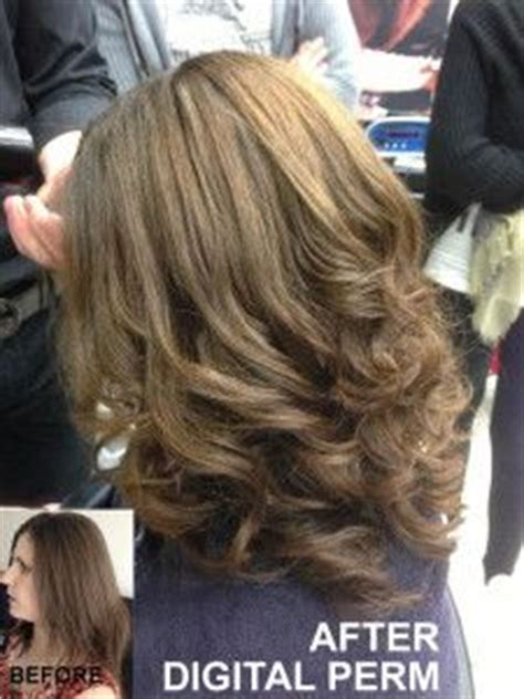loose curl partial perm partial perm before after google search other hair