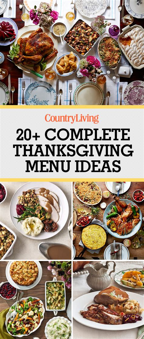 traditional country thanksgiving menu ideas