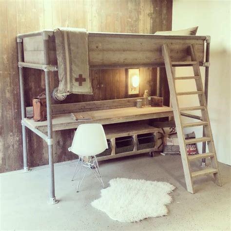 bureau high steigerhouten hoogslaper met bureau noah vanlonden