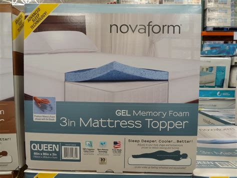 novaform 3 inch gel memory foam mattress topper