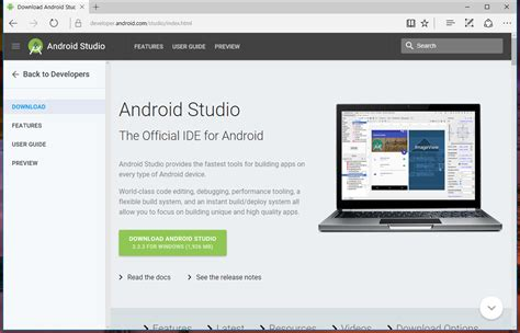 android studio version how to install android studio on windows 10 8 7 android development