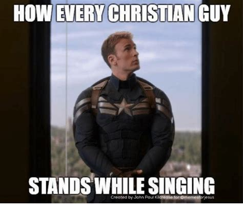 Spiritual Memes - however christian guy stands created by john paul