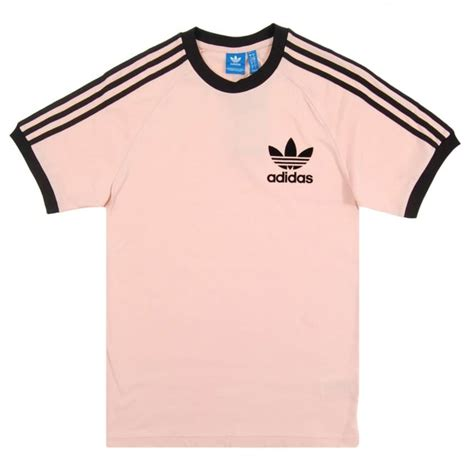 Adidas Logo V Neck Vapour Pink Original adidas originals california t shirt vapour pink black mens clothing from attic clothing uk