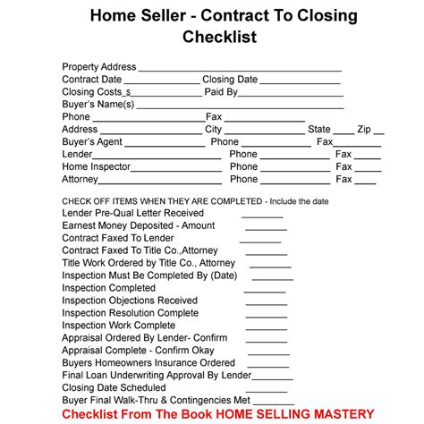 Home Sellers Here Is Your Contract To Closing Checklist You Can Use To Help Make Handling The Real Estate Transaction Timeline Template