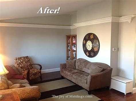 Living Room Crown Molding Before And After Before After Aaron S Livingroom Molding Makeover The